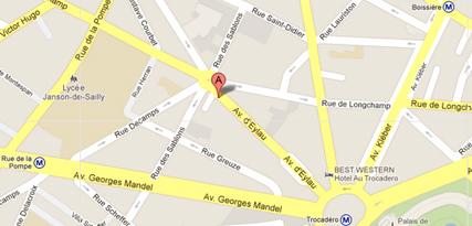 Plan Acces - Cabinet MENASCE-CHICHE Paris