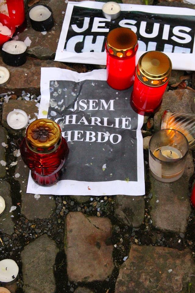 Mobilisation Charlie Hebdo à Prague